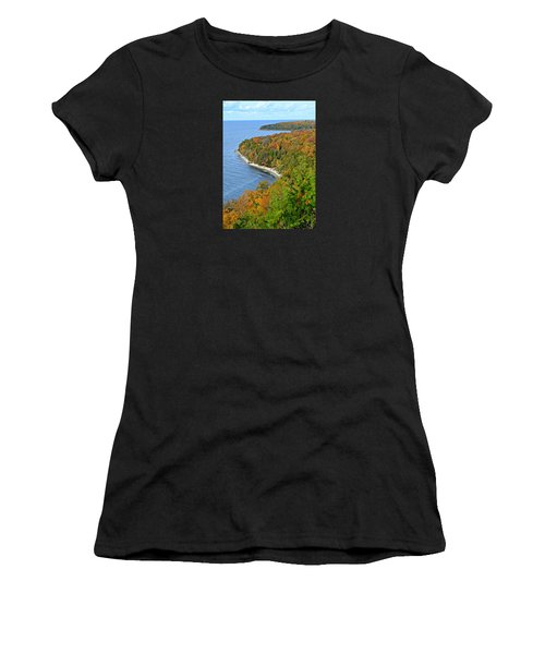 Women's T-Shirt (Athletic Fit) featuring the photograph Colors Of Peninsula by Greta Larson Photography