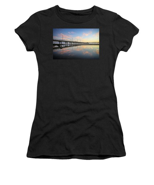 Colourful Cloud Reflections At The Pier Women's T-Shirt