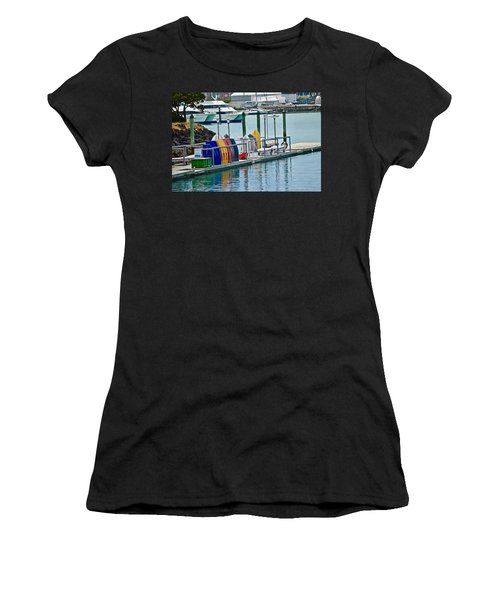 Colourful Dinghies Auckland Women's T-Shirt (Athletic Fit)