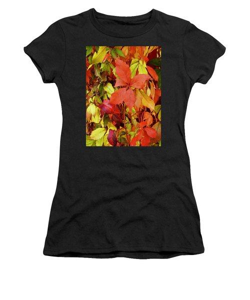 Colours Of Autumn Women's T-Shirt (Athletic Fit)