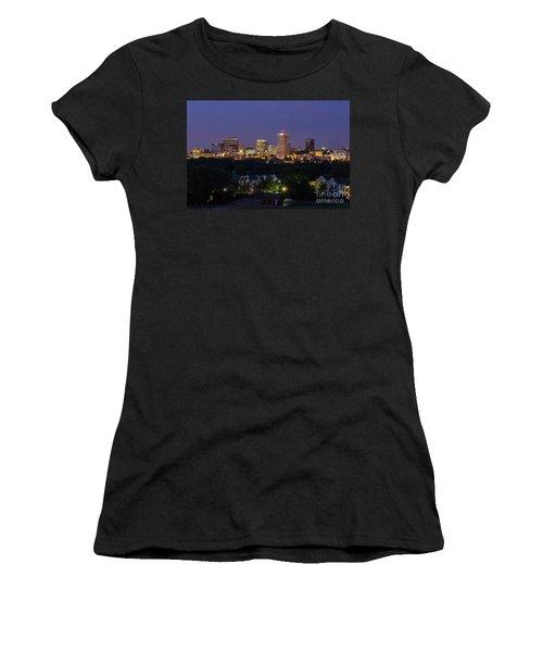 Columbia Skyline At Twilight Women's T-Shirt