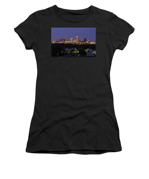 Columbia Skyline At Twilight Women's T-Shirt