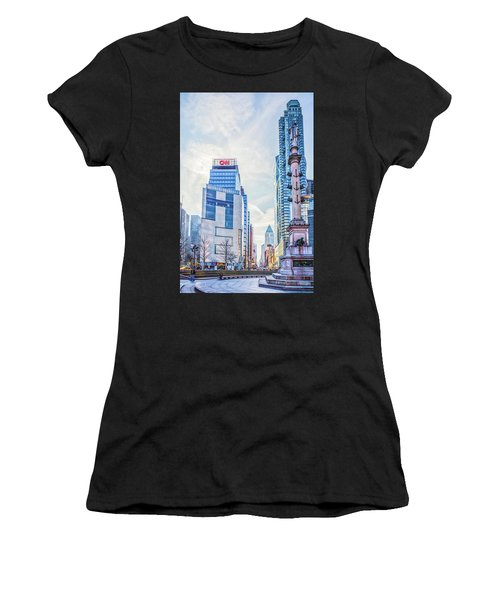 Columbus Circle Women's T-Shirt (Athletic Fit)
