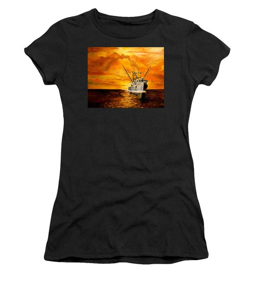 Women's T-Shirt (Junior Cut) featuring the painting Coming Home by Alan Lakin