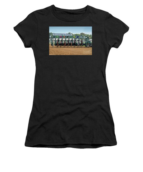 Coming Out Of The Gate Women's T-Shirt (Athletic Fit)