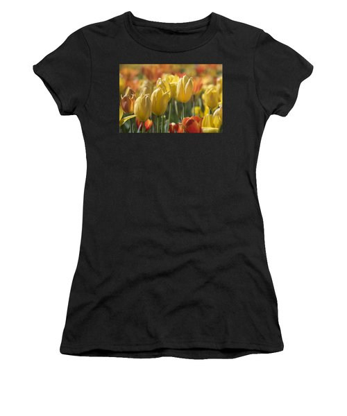 Coming Up Tulips Women's T-Shirt (Athletic Fit)
