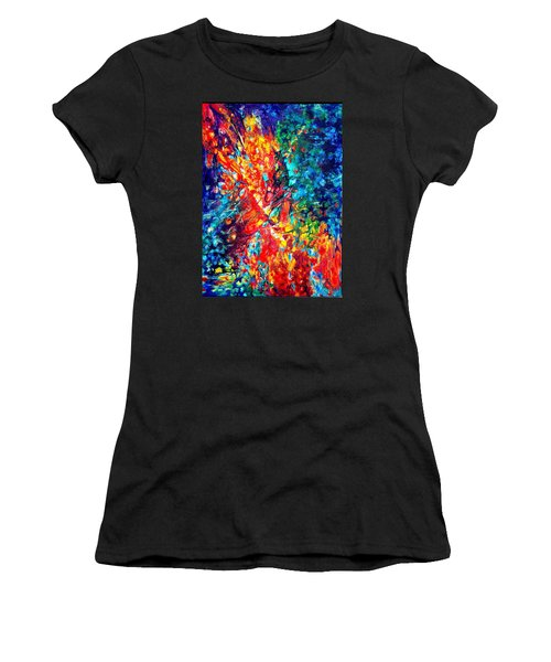 Composition #3. Abstract Sunsets.  Women's T-Shirt (Athletic Fit)