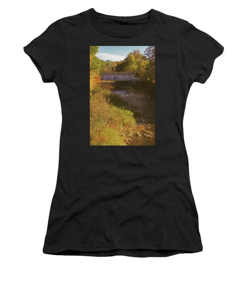Comstock Covered Bridge Women's T-Shirt (Athletic Fit)