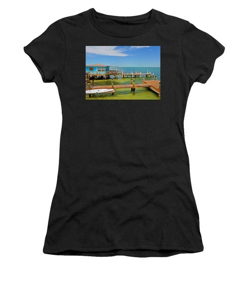 Conch Key Blue Cottage 3 Women's T-Shirt (Athletic Fit)