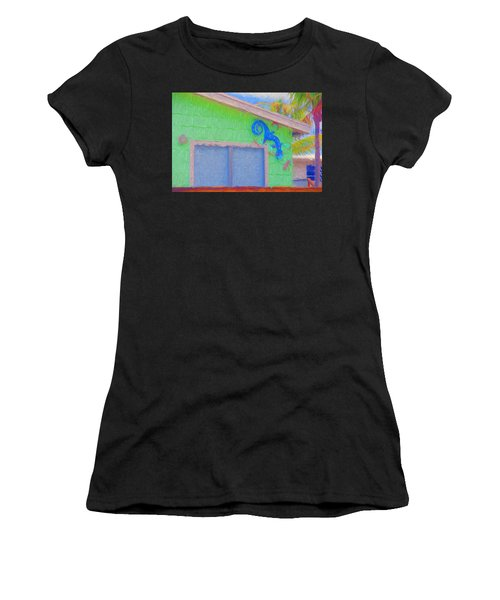 Conch Key Lizard Wall Art Women's T-Shirt