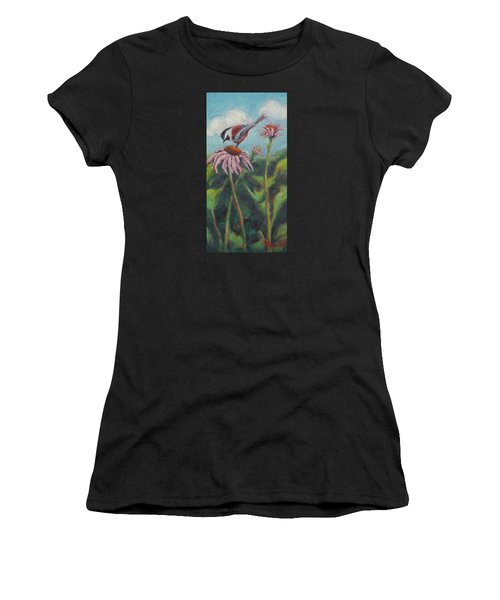 Coneflower Peep Women's T-Shirt (Athletic Fit)