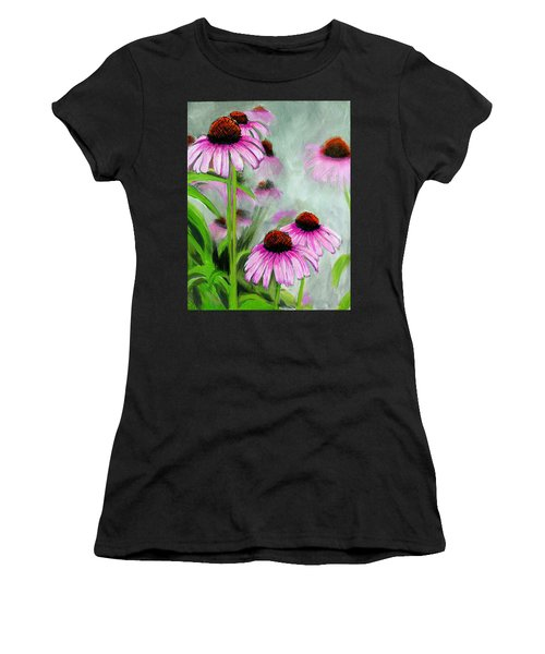 Coneflowers In The Mist Women's T-Shirt (Athletic Fit)
