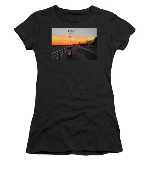 Coney Island Boardwalk Sunset Women's T-Shirt (Athletic Fit)