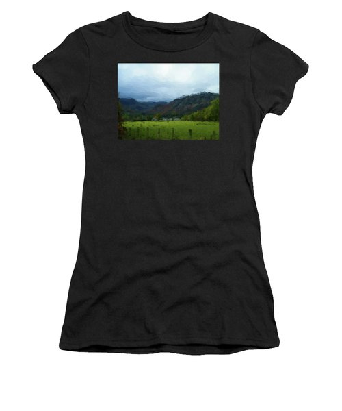 Coniston Watercolour Sketch Women's T-Shirt (Athletic Fit)