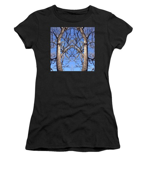 Conjoined Tree Collage Women's T-Shirt (Junior Cut) by Nora Boghossian