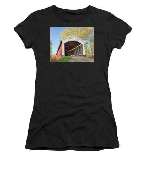 Conley's Ford Covered Bridge Women's T-Shirt (Athletic Fit)