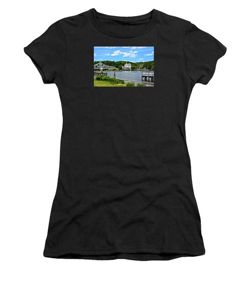 Connecticut River - Swing Bridge - Goodspeed Opera House Women's T-Shirt (Athletic Fit)