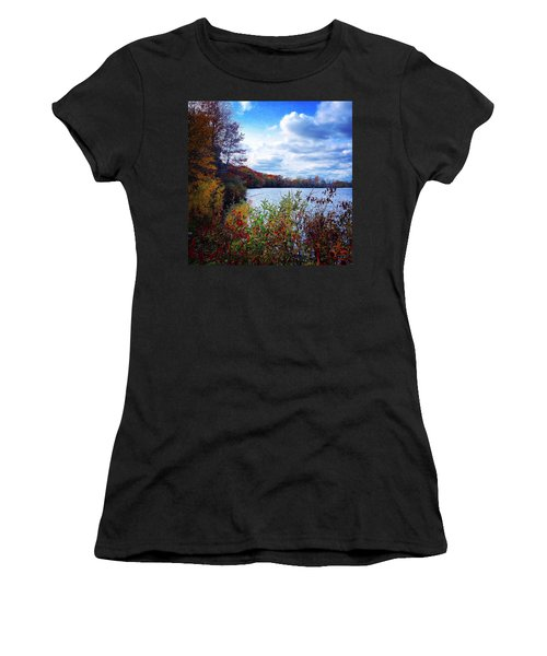 Conservation Park And Pine River In The Fall Women's T-Shirt (Athletic Fit)