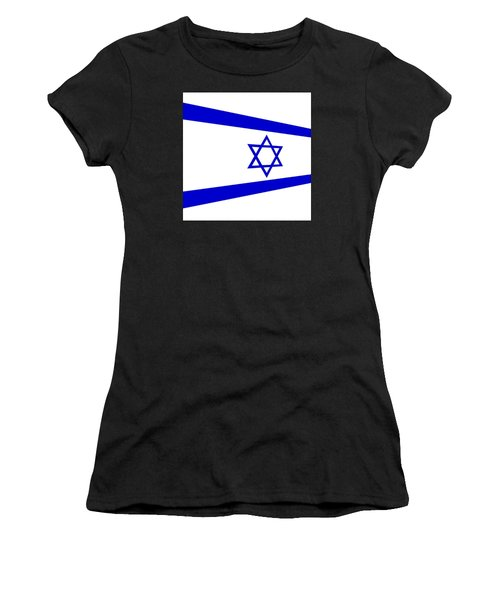 Contemporary Flag Of Israel Women's T-Shirt (Athletic Fit)
