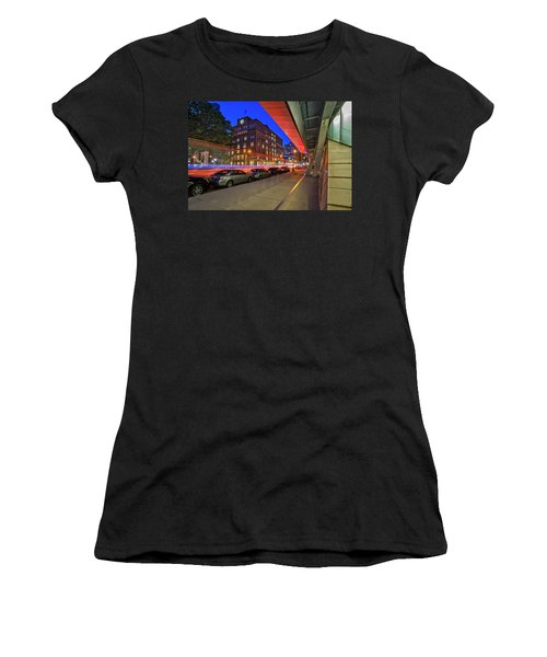Women's T-Shirt (Athletic Fit) featuring the photograph Cooper Union Nyc by Susan Candelario