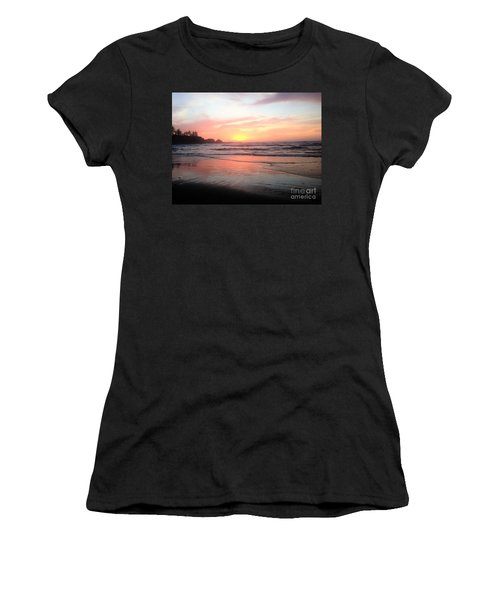 Women's T-Shirt (Junior Cut) featuring the painting Coos Bay by Linda Shackelford