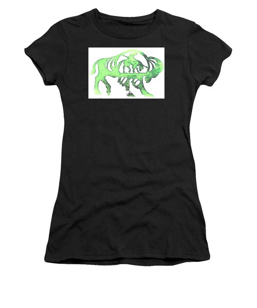 Copper Buffalo Women's T-Shirt (Athletic Fit)