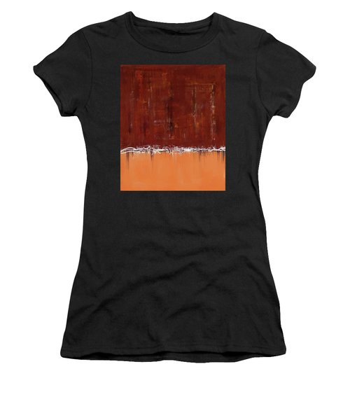 Copper Field Abstract Painting Women's T-Shirt