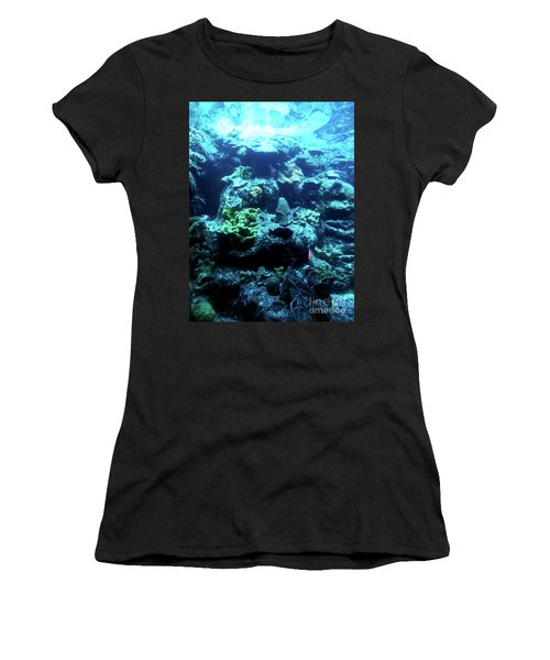 Women's T-Shirt (Athletic Fit) featuring the photograph Coral Art 4 by Francesca Mackenney