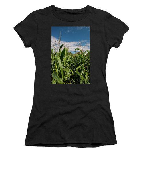 Women's T-Shirt (Junior Cut) featuring the photograph Corn 2287 by Guy Whiteley