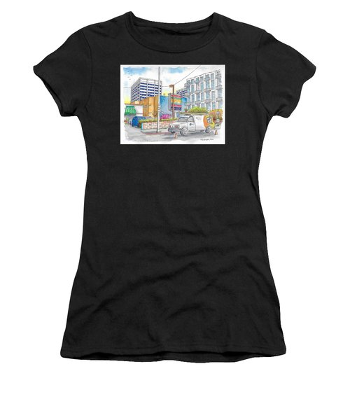 Corner La Brea And Hawthorne, Hollywood, Ca Women's T-Shirt