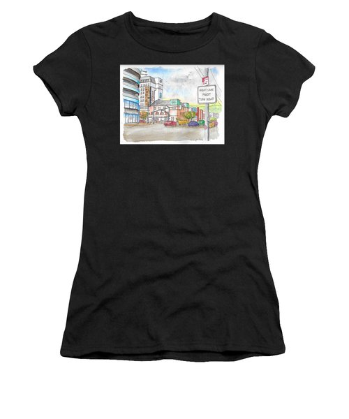 Corner La Cienega Blvd. And Beverly Blvd., Sofitel Hotel, West Hollywood, Ca Women's T-Shirt