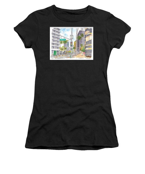 Corner Wilshire Blvd. And Gale Dr., Beverly Hills, Ca Women's T-Shirt