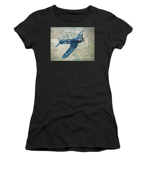 Corsair Over Mojave Women's T-Shirt (Athletic Fit)