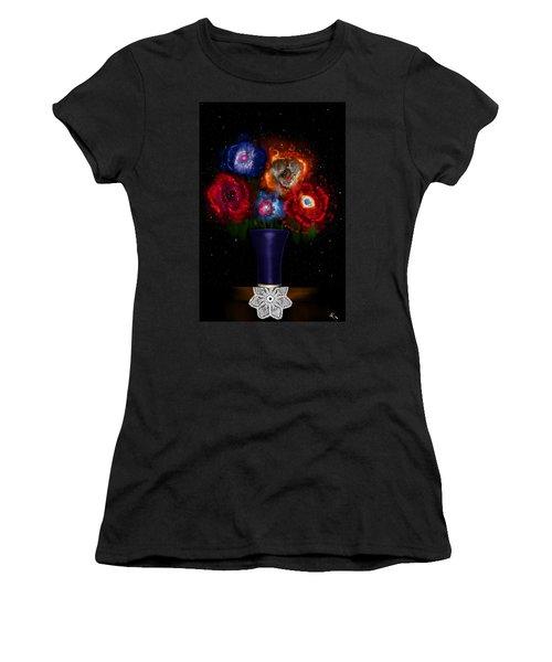 Cosmic Bouquet Women's T-Shirt (Athletic Fit)