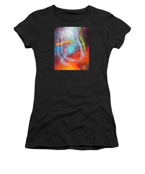 Fantasies In Space Series Painting. Cosmic Concerto Women's T-Shirt (Athletic Fit)