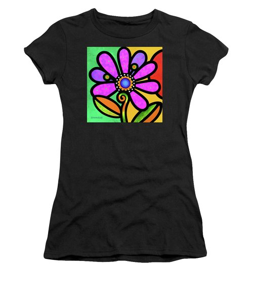 Cosmic Daisy In Pink Women's T-Shirt