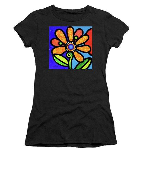 Cosmic Daisy In Yellow Women's T-Shirt
