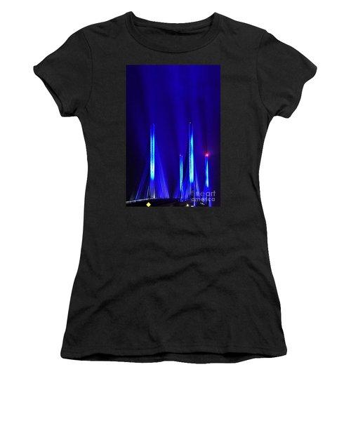 Blue Light Rays - Indian River Inlet Bridge Women's T-Shirt
