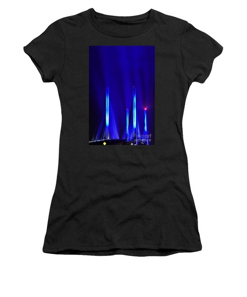Blue Light Rays - Indian River Inlet Bridge Women's T-Shirt