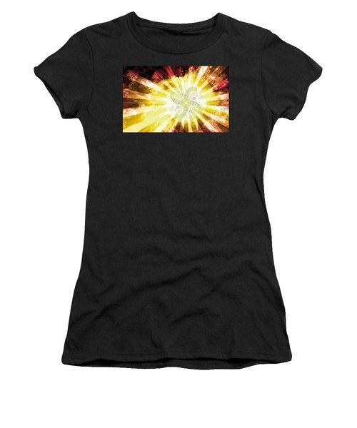Cosmic Solar Flower Fern Flare 2 Women's T-Shirt (Athletic Fit)