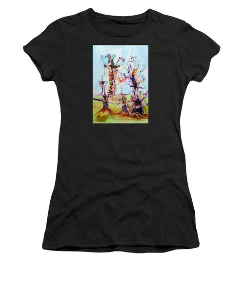 Cosmic Tree Family Women's T-Shirt (Athletic Fit)