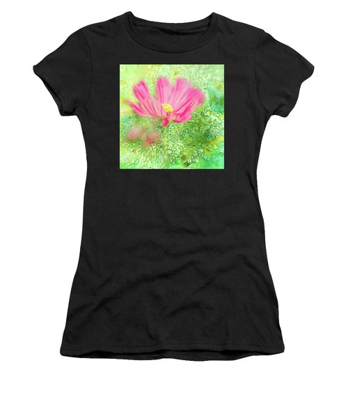 Cosmos On Green Women's T-Shirt (Athletic Fit)