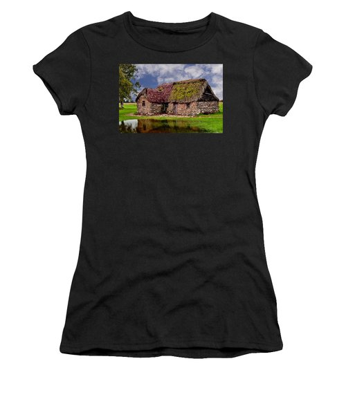 Cottage In The Highlands Women's T-Shirt (Junior Cut) by Anthony Dezenzio