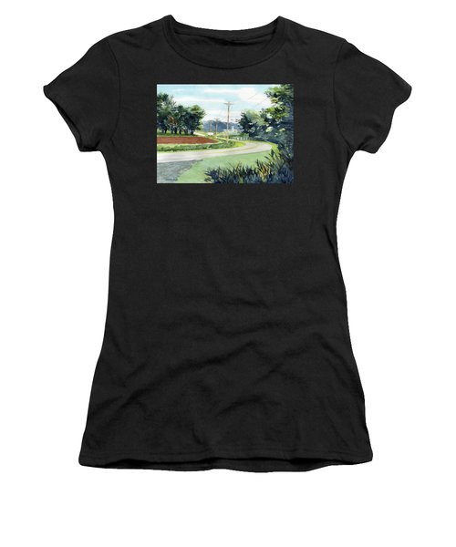 Country Corner Women's T-Shirt (Athletic Fit)