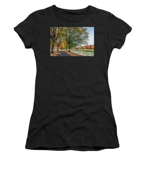 Country Road In Rural Maryland During Autumn Women's T-Shirt