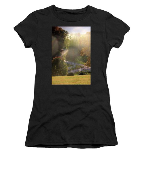 Country Road In Rural Virginia, With Trees Changing Colors In Autumn Women's T-Shirt