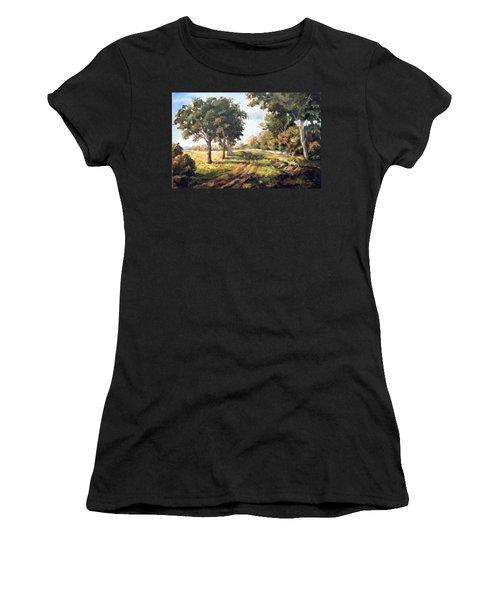 Countryside Women's T-Shirt (Junior Cut) by Alexandra Maria Ethlyn Cheshire