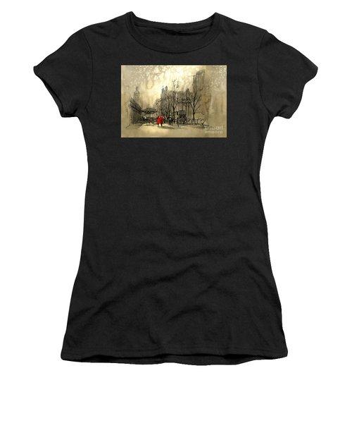 Couple In City Women's T-Shirt