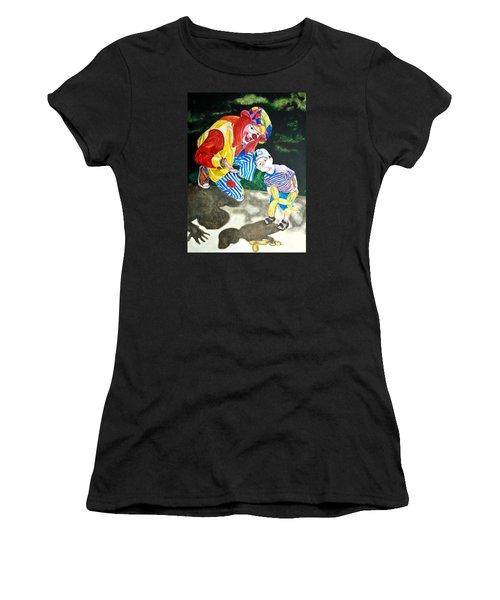 Couple Of Clowns Women's T-Shirt (Junior Cut) by Lance Gebhardt