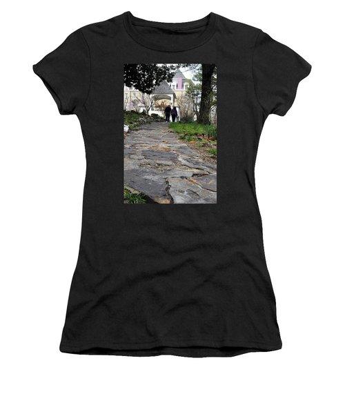 Couple On A Garden Path Women's T-Shirt